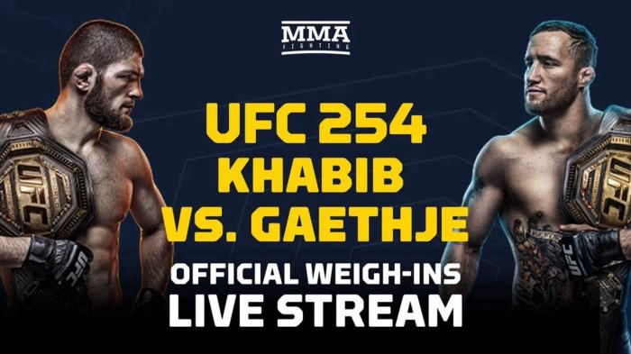 Watch UFC 254 Khabib vs Gaethje Live Stream — Click Here